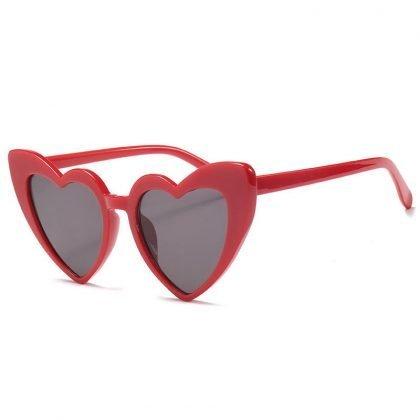 Retro hjärtformade solglasögon dam överdimensionerade UV400
