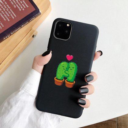 iPhone 12 & 13 Pro Max Mini skal två kaktusar kramas